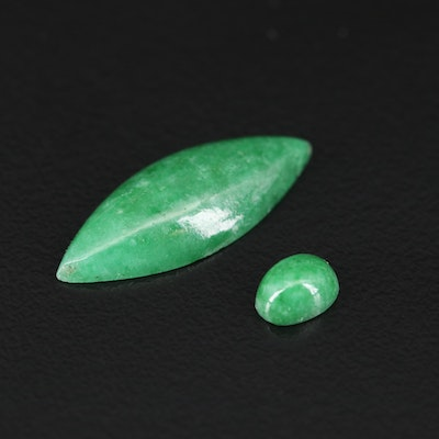 Loose Oval and Marquise Jadeite Cabochons