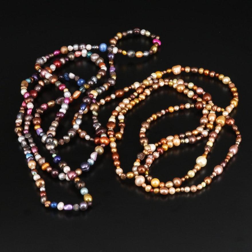 Multi Colored Pearl Necklaces