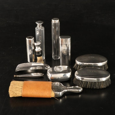 Art Deco WMB Kerr and Co Sterling Silver Men's Grooming Set, Early to Mid 20th C