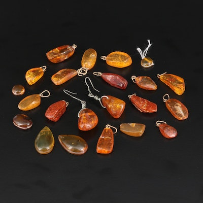 Loose Amber Selection Featuring Various Shapes