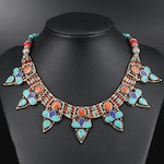 Tibetan Panel and Beaded Necklace