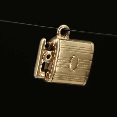 Vintage 14K Articulated Cigarette Lighter Charm
