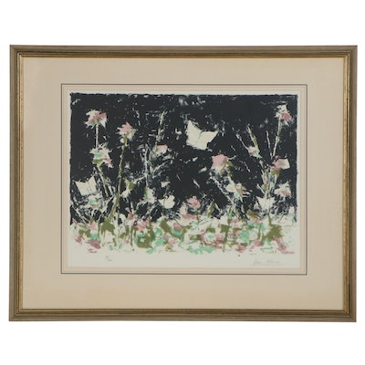 """Ivan Mosca Lithograph """"Meadow at Night,"""" Late 20th Century"""