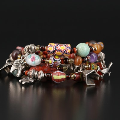 Southwestern Multi-Strand Bracelet with Buffalo Nickel