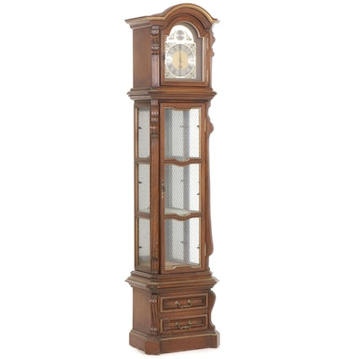 Herschede Clock Illuminated Display Cabinet with Glass Shelves