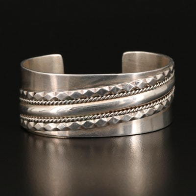 Sterling Wire Work Overlay Cuff