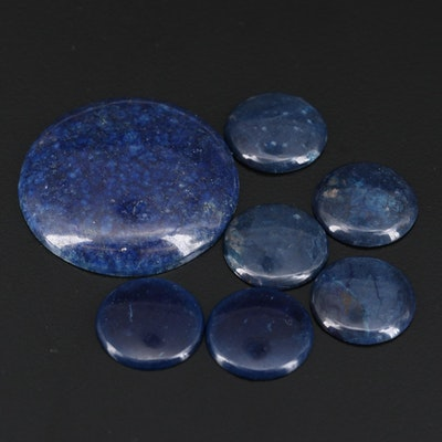 Loose Lapis Lazulis and Jasper Cabochons