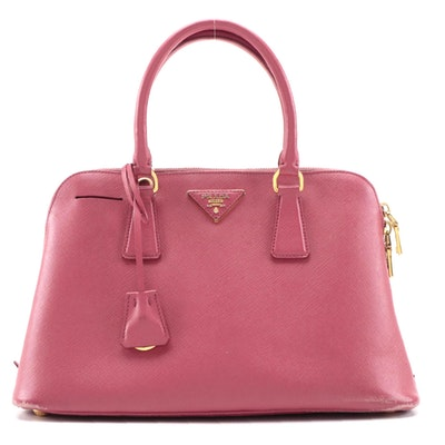 Prada Galleria Bag in Pink Saffiano Leather
