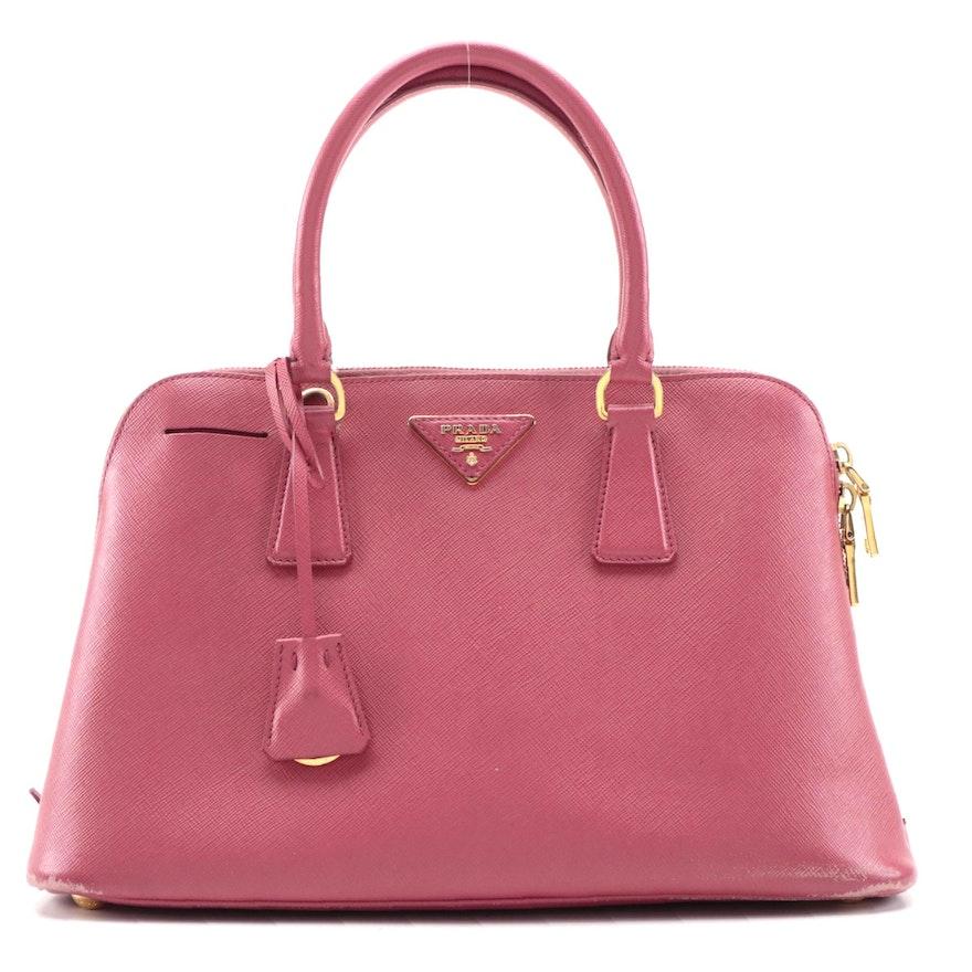 Prada Galleria Bag in Pink Saffiano Leather