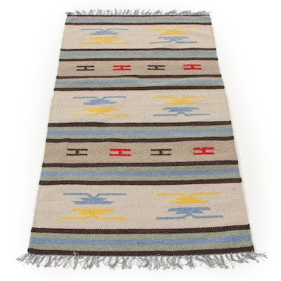3'0 x 5'5 Handwoven Indo-Turkish Kilim Area Rug, 2000s