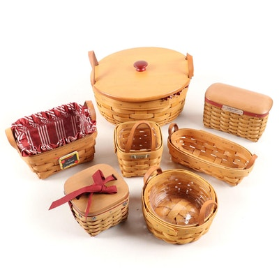 Longaberger Maplewood Serveware Baskets, 21st Century