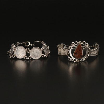 Bracelets Featuring Sterling British Threepence Coin Bracelet