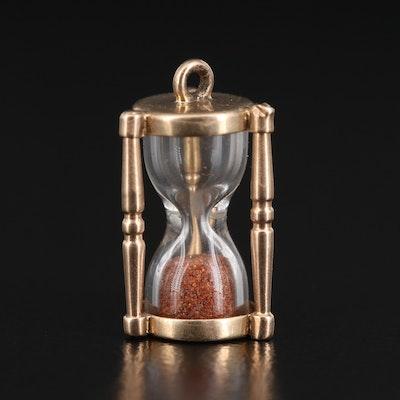 14K Hourglass Pendant