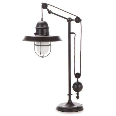 Industrial Chic Cantilevered Suspension Light Lamp