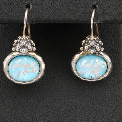 Michael Dawkins Sterling Silver Rock Quartz Crystal Doublet Earrings