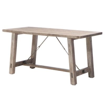 "Emerald Home ""Dakota"" Metal-Mounted Pine Counter-Height Dining Table"
