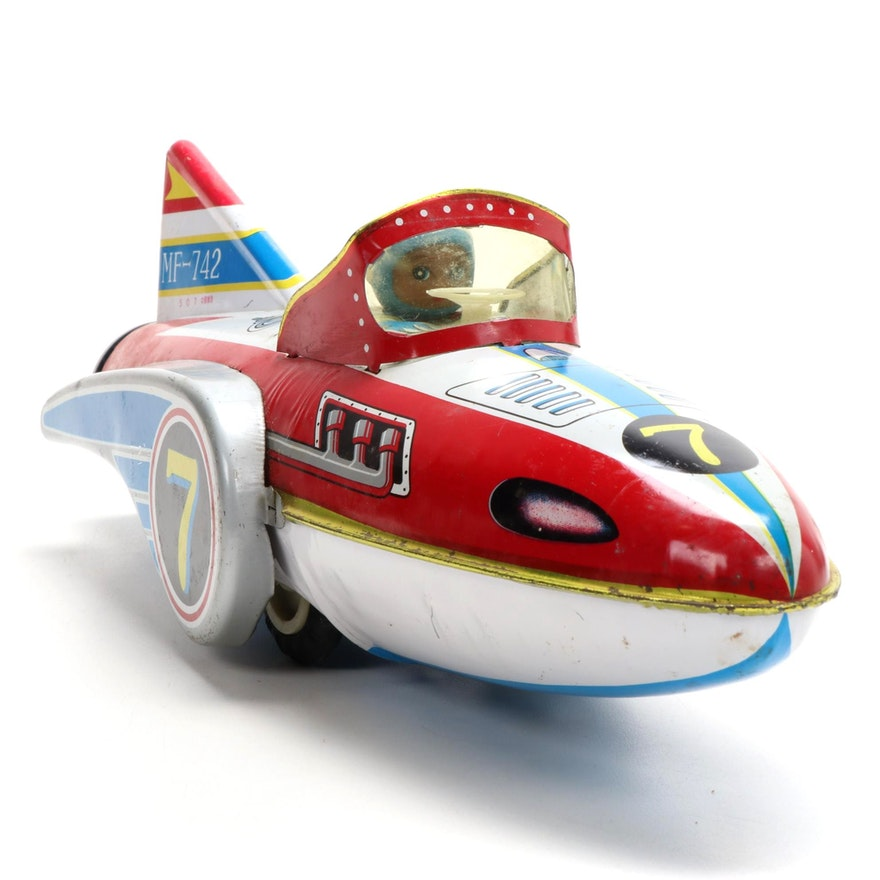 """Great Flying Boat"" Tin Litho Friction Toy"