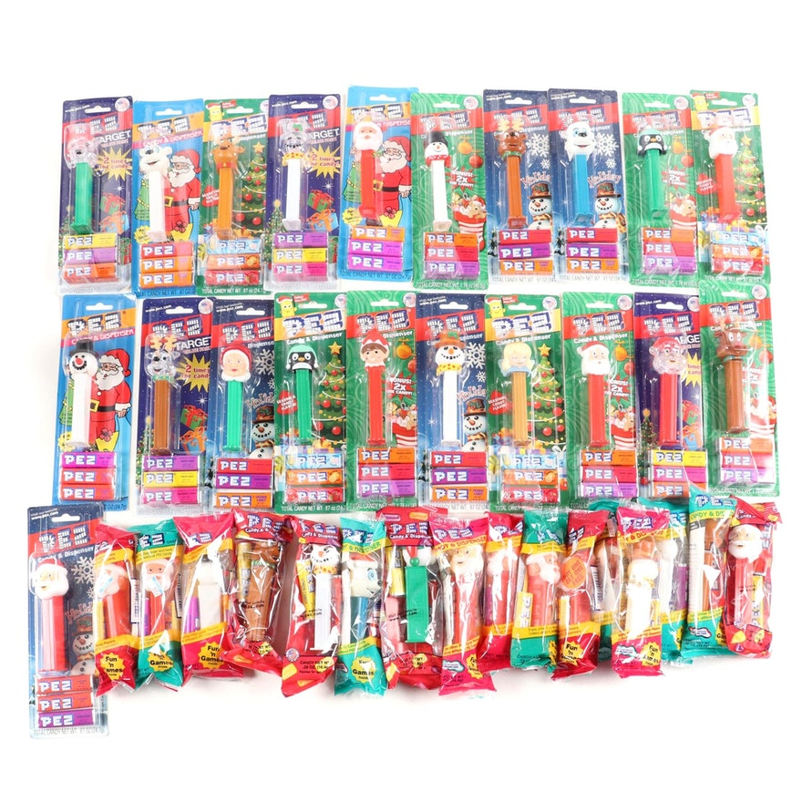 PEZ Christmas and Winter Themed Candy Dispensers