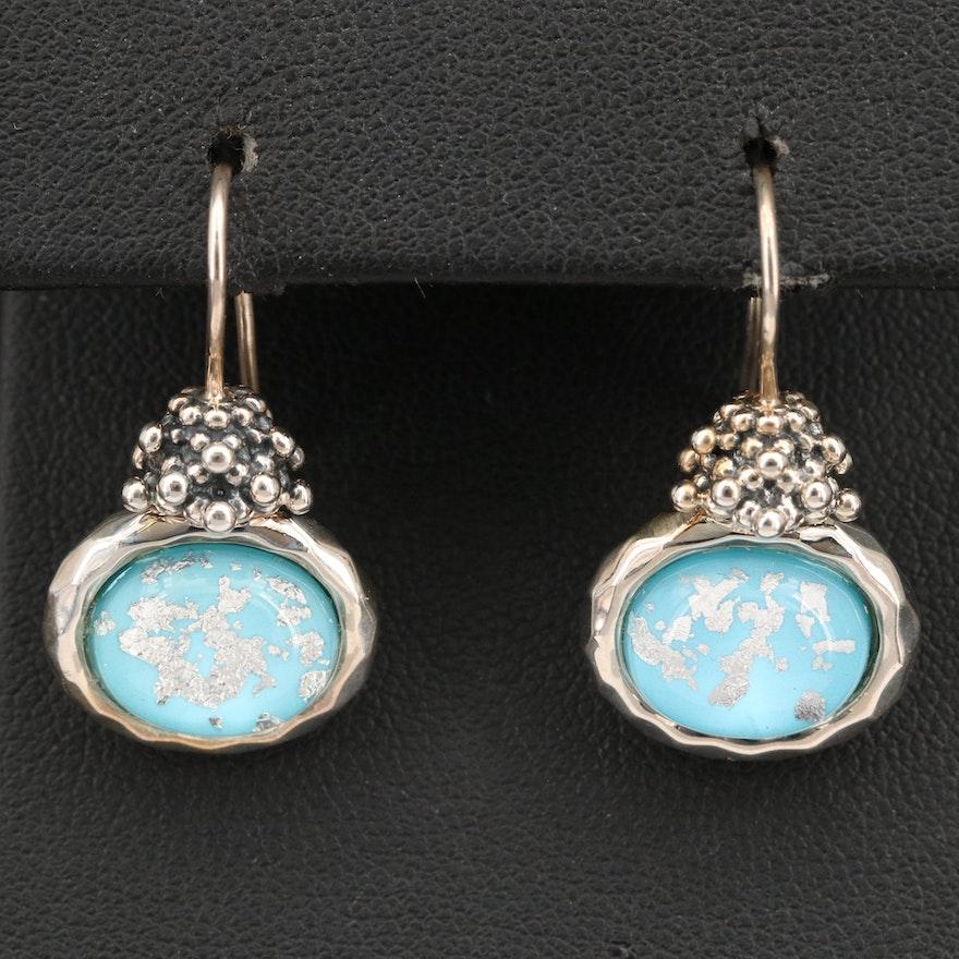 Michael Dawkins Sterling Rock Quartz Crystal Doublet Earrings