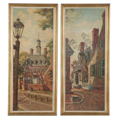 Offset Lithographs after Paintings of Williamsburg, Virginia, Late 20th Century