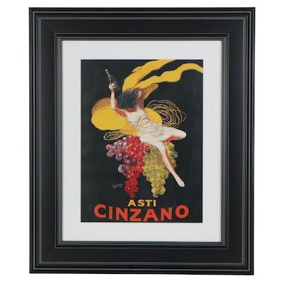 """Offset Lithograph after Leonetto Cappiello """"Asti Cinzano,"""" Late 20th Century"""