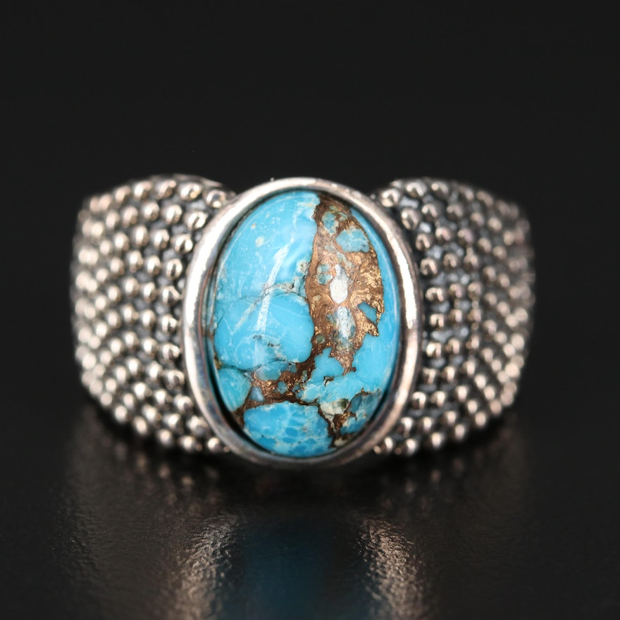 Michael Dawkins Sterling Turquoise Ring