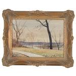 Edmond James Fitzgerald Landscape Watercolor Painting