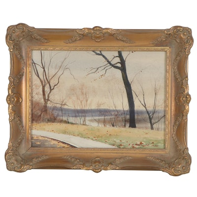 Edmond James Fitzgerald Landscape Watercolor Painting