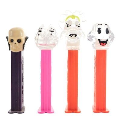 """PEZ """"Crystal Collection"""" and """"Skull"""" Candy Dispensers, 1990s"""