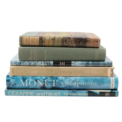 Art Reference and Fiction Books Featuring Claude Monet and Vincent van Gogh