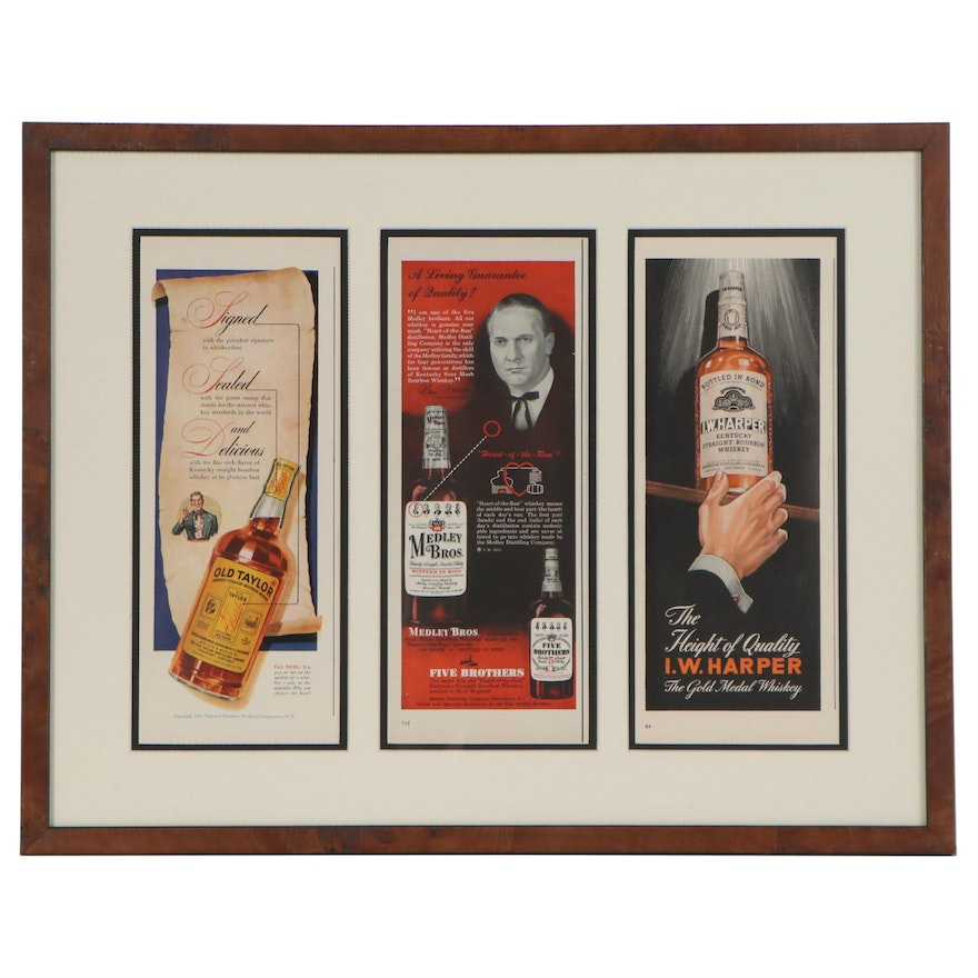 Offset Lithograph and Halftone Bourbon Advertisements, 1942