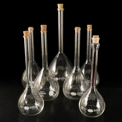 Kimble Kimax USA Volumetric Flasks with Cork Stoppers