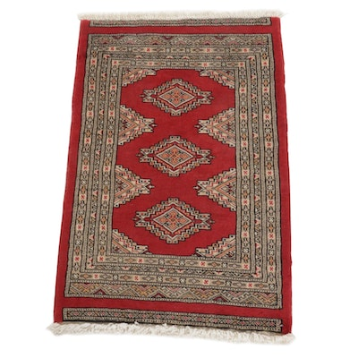 2'1 x 3'4 Hand-Knotted Pakistani Bokhara Turkmen Accent Rug, 2010s