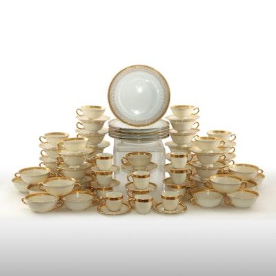 "Lenox Porcelain ""Lowell"" Bone China Including J. Bernardaud & Co. Limoges Plates"