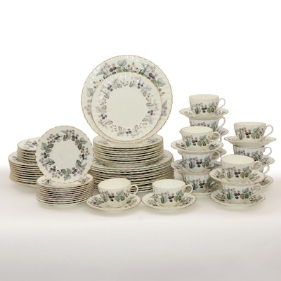 "Royal Worcester ""Lavinia"" Bone China Dinnerware, Mid to Late 20th Century"