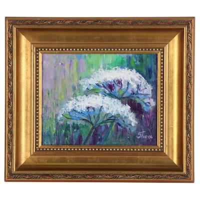 "Thea Mamukelashvili Acrylic Painting ""Wildflowers,"" 2021"