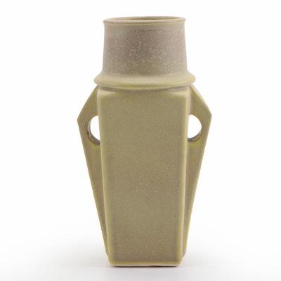 Jemerick Prairie Series Sage Green Art Pottery Vase, Late 20th Century