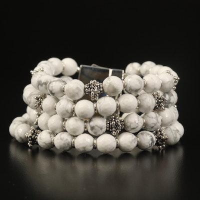 Michael Dawkins Sterling Magnesite Multi-Strand Bracelet