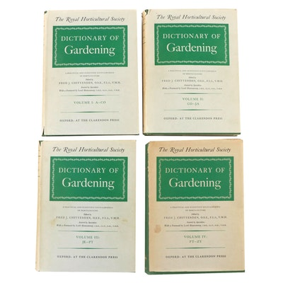"First Edition ""The Royal Horticultural Society Dictionary of Gardening,"" 1951"