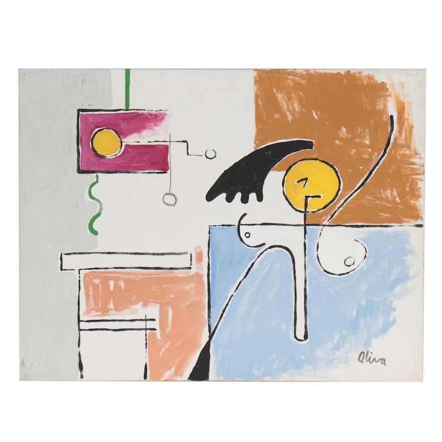 Eduardo Oliva Abstract Acrylic Painting