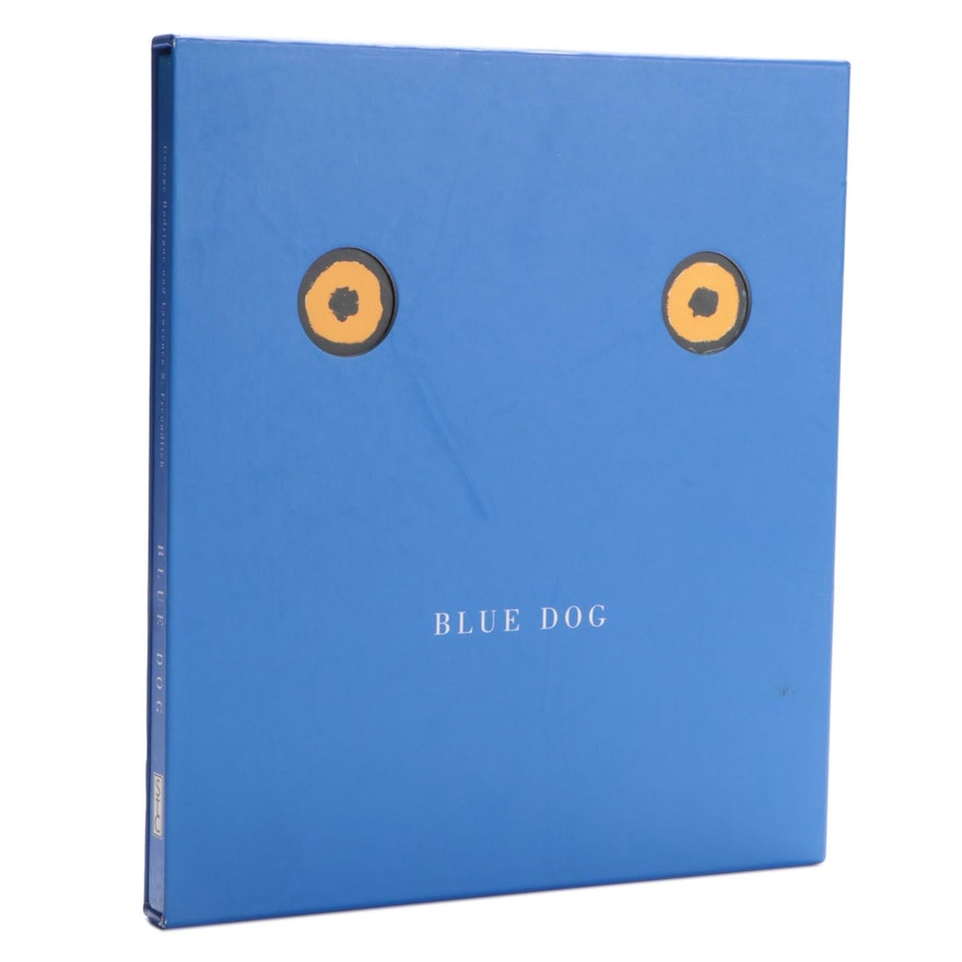 """Illustrated """"Blue Dog"""" by George Rodrigue, 2000"""
