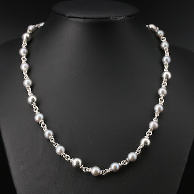 Michael Dawkins Sterling Silver Pearl Necklace