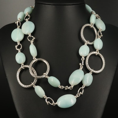 Michael Dawkins Sterling Quartzite Necklace