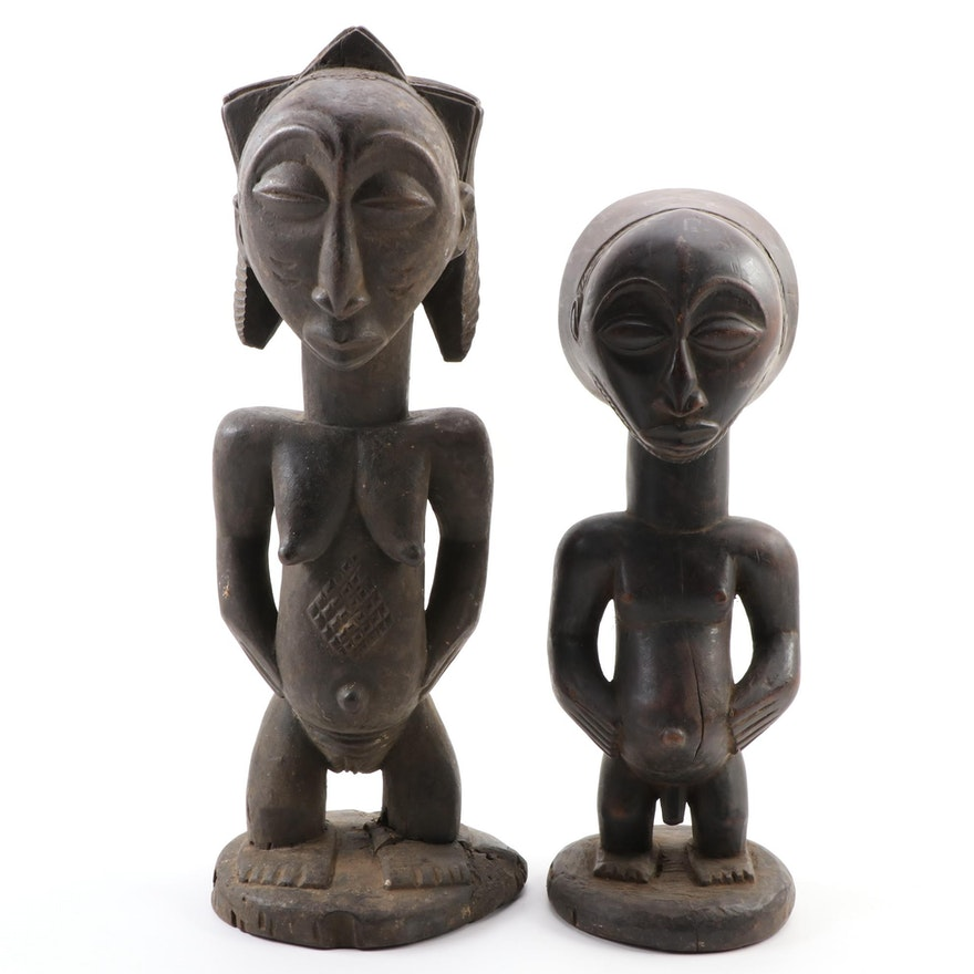 Luba and Hemba Style Wooden Figures, Democratic Republic of the Congo