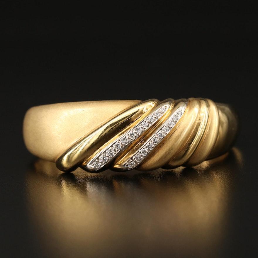 18K Diamond Hinged Bangle