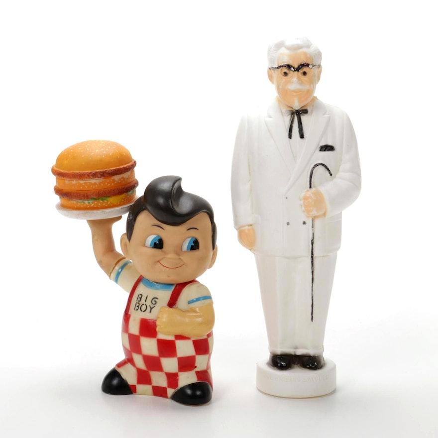 Big Boy and Colonel Harland Sanders Plastic Banks, Circa 1999