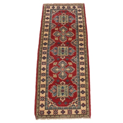 2'2 x 5'8 Hand-Knotted Afghan Caucasian Carpet Runner, 2010s