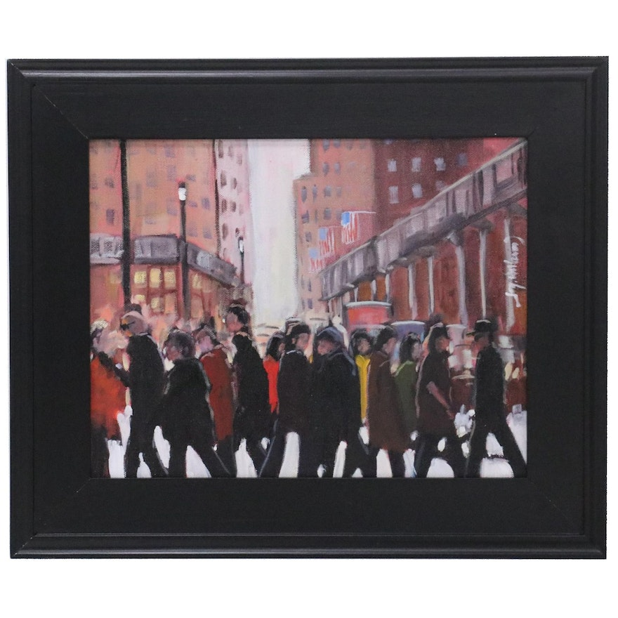 """Jay Wilford Oil Painting """"Together not Together,"""" 21st Century"""
