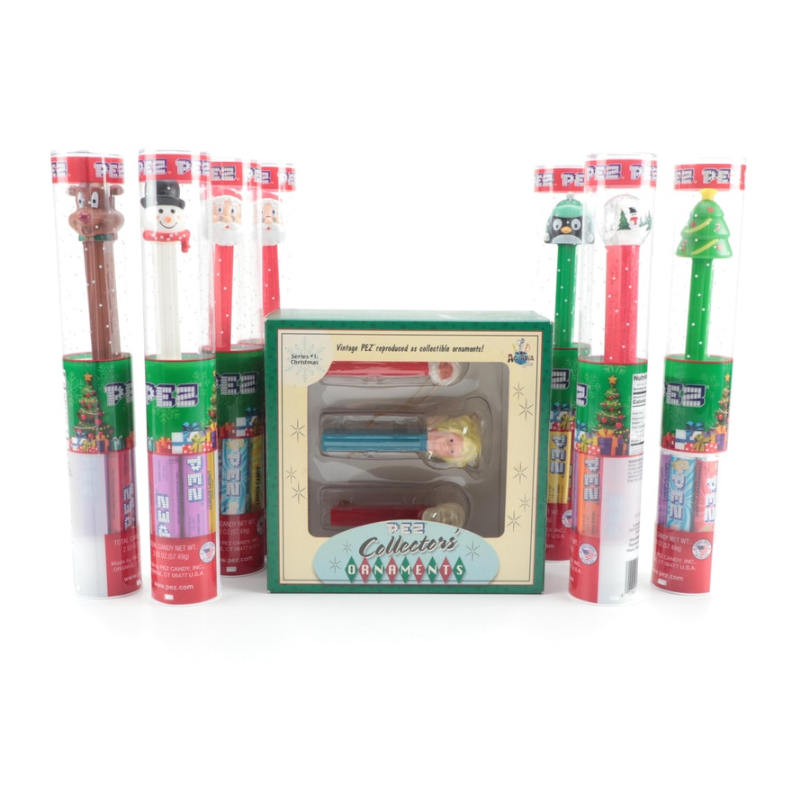 PEZ Collectors Ornaments and Other Christmas PEZ Dispensers