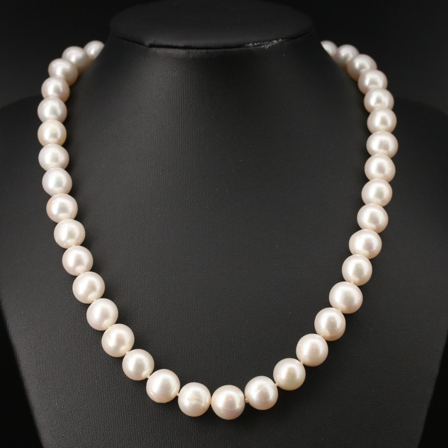 Oval Pearl Bracelet with 14K Clasp
